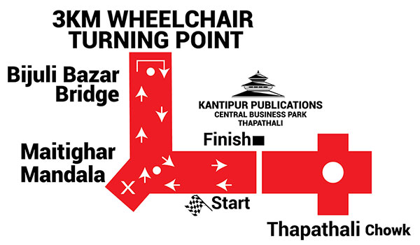 Wheel Chair Race Route