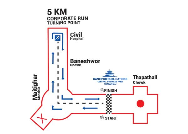 Corporate 5km Run Route